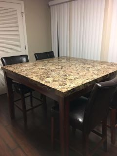 Marble top dining room set