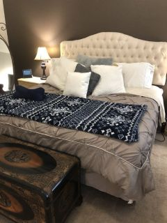 *** King size Beauty Rest mattress, box spring, and bed frame