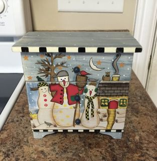 Snowman Wooden Chest of 3 Drawers