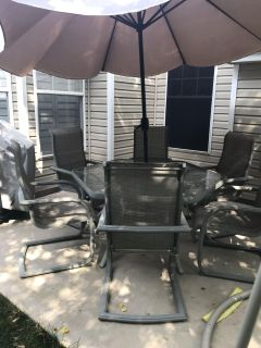 Patio set with chairs