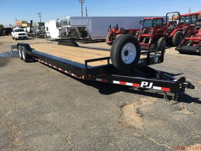 Two Car Hauler Trailer, PJ Trailers B8322 8″ Channel Super-Wide