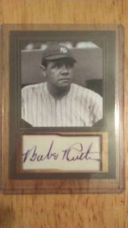 Genuine Babe Ruth baseball card autograph edition limited edition. Shipping available.