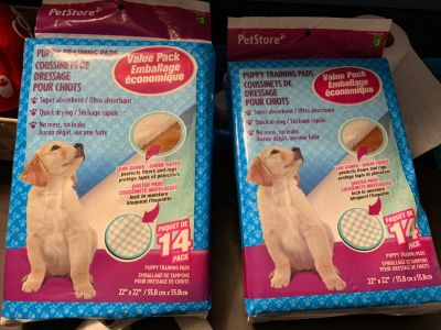 2packs puppy training pads NEW