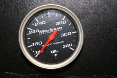 "Purchase Stewart Warner Gauges 114572 2-1/16"" Oil Temperature Gauge 140-320F 12'Cap Black motorcycle in Melbourne, Florida, United States, for US $59.99"