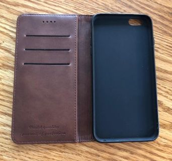 I PHONE 6 PLUS--Leather Wallet Phone Case with Card Holder