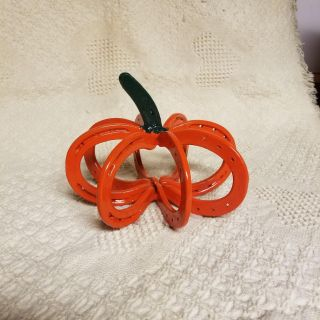 Pumpkin made from horseshoes