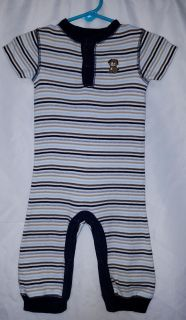 Carter's short sleeve cotton longall 'puppy' baby boy size 9 months