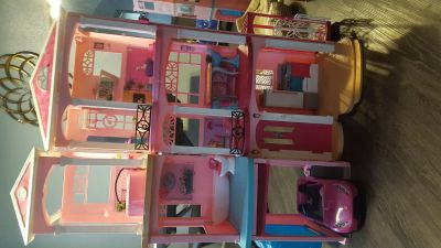 Barbie dream house convertible included!!