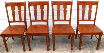 4 Solid Wood Kitchen / Dining / Chairs
