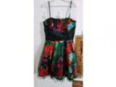 URGENT SALE Rainbowcolourful and black going out dress