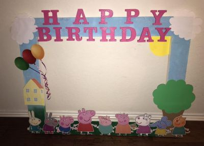 Peppa Pig Party Frame