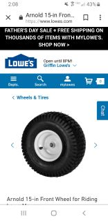 ISO LAWNMOWER TIRE RIM