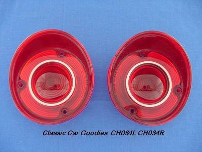 Sell 1972 Chevelle SS Malibu Tail Light Lenses. New Pair! motorcycle in Aurora, Colorado, US, for US $30.99