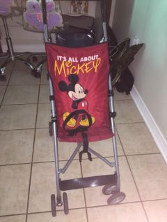 Mickey Mouse umbrella stroller in good used cond