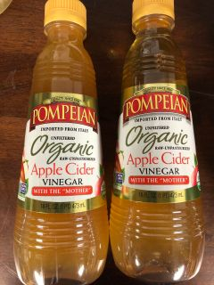 2-16 Ounce bottles of Pompion organic apple cider vinegar with the mother