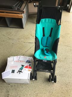 Pockit stroller used for one week, no need for it now. Folds up to fit in Oversized purse.