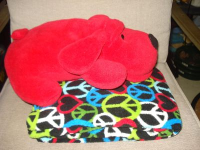 Brand New Blanket with Dog, Asking $6.00. I have 1 of these.
