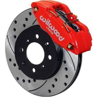 Find Wilwood 140-12996-DR Brake Kit with Drilled Rotors, Red, Front motorcycle in North Beach, Maryland, United States, for US $580.05