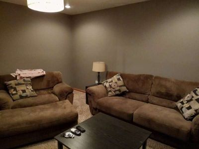 Sofa and Double Chair w/Ottoman