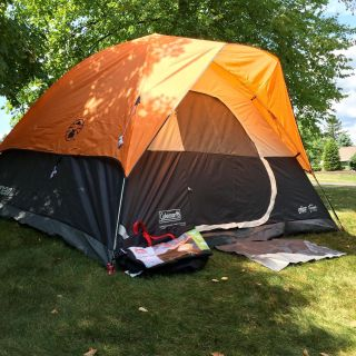 Tent, 6 person, Coleman, moraine park model, used once, impeccably clean