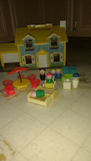 Fischer Price little people and furniture
