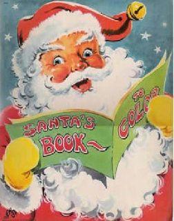 Santa's Book to Color