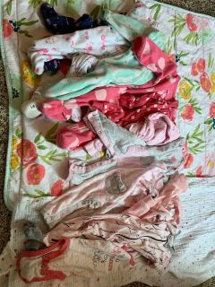 0-3 months baby girl mixed clothes