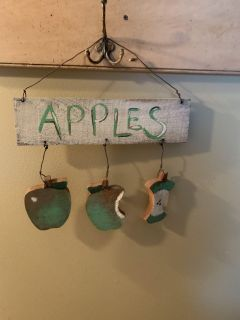 13 wood apples sign