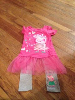 Peppa pig 5t pants and short sleeve