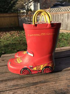 Cars Rain Boots Toddler Size 10