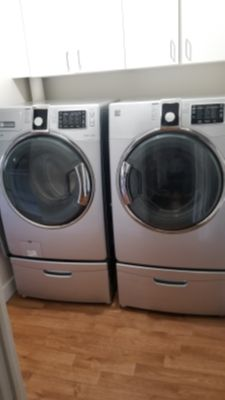 XLG capacity Kenmore Stainless Steel Steam Washer & Steam Dryer