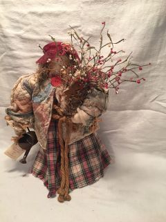 Hand Crafted Sarah Belle Freckles Doll
