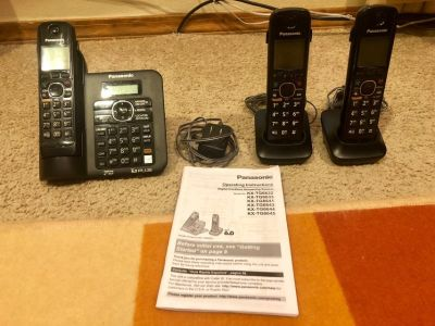 Panasonic 6.0plus cordles phone with Base and 2 Handsets