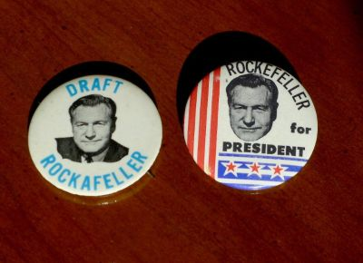 2 Nelson Rockefeller Presidential Campaign Buttons