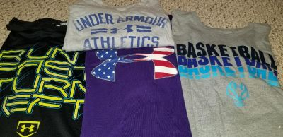 4 Large Under Armour t-shirts