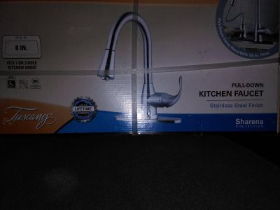 Tuscany 8 in pull down kitchen faucet