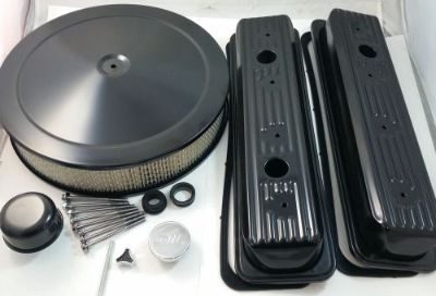 Sell Black Center Bolt SB Chevy Engine Dress Up Kit W/ Air Cleaner 5.0 5.7 87-95 V8 motorcycle in Chatsworth, California, United States, for US $79.99