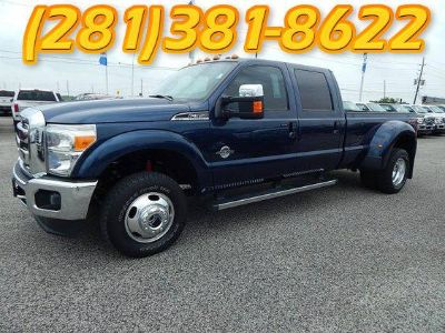 2014 Ford F-350 4x4 Super Crew Lariat Dually   27809 mis  BLUE  Navigation  Sunroof