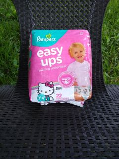 New: Pampers Easy Ups Training Underwear for Girls, Size 3T-4T, 22 Count-> $6.