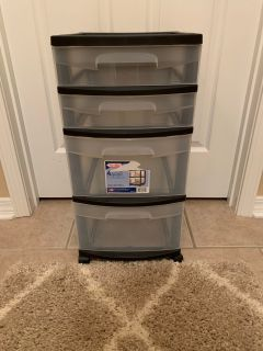 4 drawer organizer on wheels
