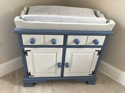 Shabby chic farmhouse diaper changing dresser