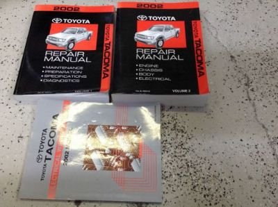 Purchase 2002 Toyota TACOMA TRUCK Service Shop Repair Workshop Manual Set W EWD OEM motorcycle in Sterling Heights, Michigan, United States, for US $299.99
