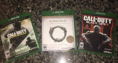 Xbox one games SET OF 3