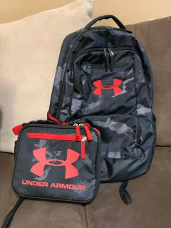 UNDER ARMOUR Backpack & matching Lunchbox