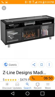 TV Cabinet with fireplace 200.00