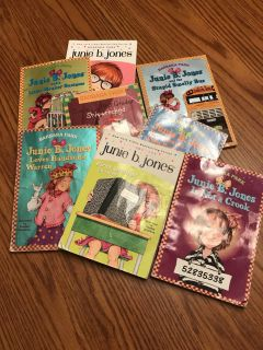 Junior b Jones paperbacks. Pages are fine to read but books do show some love. All for $2