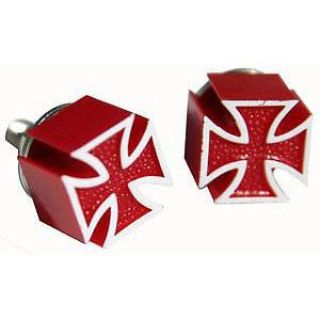 Find RED IRON CROSS LICENSE PLATE BOLTS CUSTOM MALTESE SURF RAT HOT ROD CHOPPER BIKE motorcycle in Sacramento, California, United States, for US $14.79