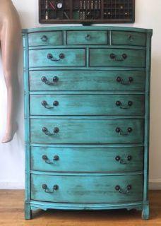 Antique 10 Drawer/ Vintage Dresser/ Bureau/Storage