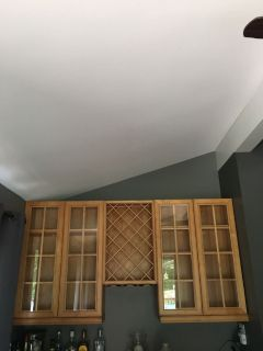 Upper maple cabinets
