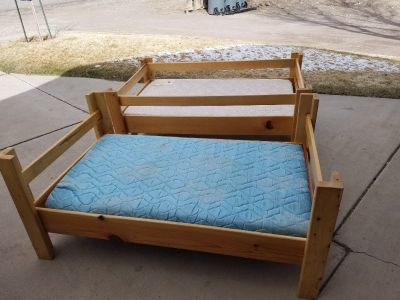 Custom bunk beds with mattresses